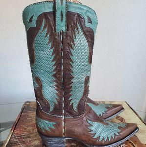 Old Gringo Iron Eagle Studded Cowboy Boot